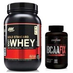 Whey Protein Gold Standart Optimum Chocolate + Bcaa Fix Dark