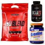 Whey Protein Iso Blend 907g Integralmedica + BCAA Fix 120 Tabs + Creatina Creapure 400g Arnold