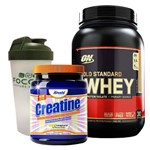 Whey Protein Isolado WHEY GOLD 100% 2lbs Optimum Nutrition + CREATINA CREAPURE 400g - Arnold Nutriti
