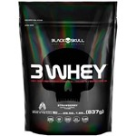 3 Whey Protein Refil - Morango 1800g - Black Skull
