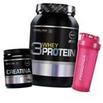 Whey Protein 3w 900g + Creatina Pura 100g - Probiótica