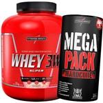 Whey 3w 1,8kg + Mega Pack 30 Packs Hardcore - IntegralMedica