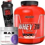 Whey 3w Super Integralmedica + 4:1:1 Bcaa Drink Max Titanium