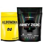 Whey Zero Refil 837g Black Skull (cookies & Cream) + Albumina 500g! (natural)