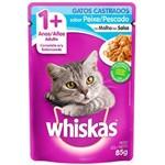 Whiskas Gatos Castrados Sachê Sabor Peixe - 85g
