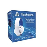 Wireless Headset Stereo Headset 2.0 White - PS4 - PS3 - Psv