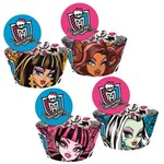 Wrapper Cupcake C/ Enfeite Monster High Kids C/ 12 Unds