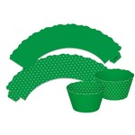 Wrappers Cupcake Poa Verde C/12 - Ultrafest