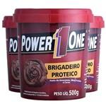 3x Combo Brigadeiro Proteico 1500g - Power 1 One
