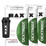 3x Dextrose Refil 1kg + Coqueteleira Max Titanium