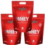 3x Nutri Whey Protein - Integralmedica 1,8kg Monte Seu Combo