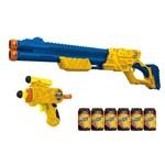 X-shot - Micro e Vigilante - 10 Dardos - 6 Latas