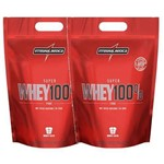 2x Super Whey 100% Pure 1,8kg - Morango - Integralmedica + C