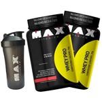 2x Whey Pro 1kg + Coqueteleira Max Titanium