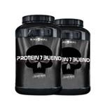2x Whey/wey Protein 7 Blend - Black Skull Caveira Preta Bope