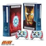 Xbox 360 Fat Skin - Iron Man - Homem de Ferro #B Adesivo Brilhoso
