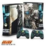 Xbox 360 Slim Skin - Ghost Recon Future Soldier Adesivo Brilhoso