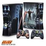 Xbox 360 Slim Skin - Star Wars The Force Unleashed Adesivo Brilhoso