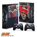Xbox 360 Super Slim Skin - Batman Vs Superman Adesivo Brilhoso