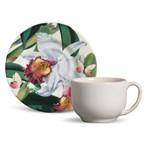 Xícara de Chá com Pires Mônaco Orchids