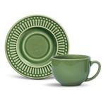 Xícara de Chá com Pires Roma Verde