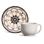 Xícara de Chá de Cerâmica Mônaco Esmirna 160Ml - Porto Brasil