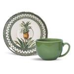 Xícaras de Chá Porto Brasil Pineapple Green 6 Unidades