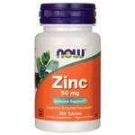 Zinco 50mg Now Foods 100 Tablets - Importado